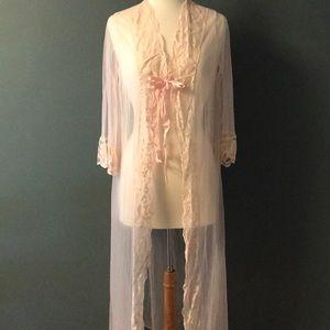 Peignoir Vintage 2 Piece Nightgown